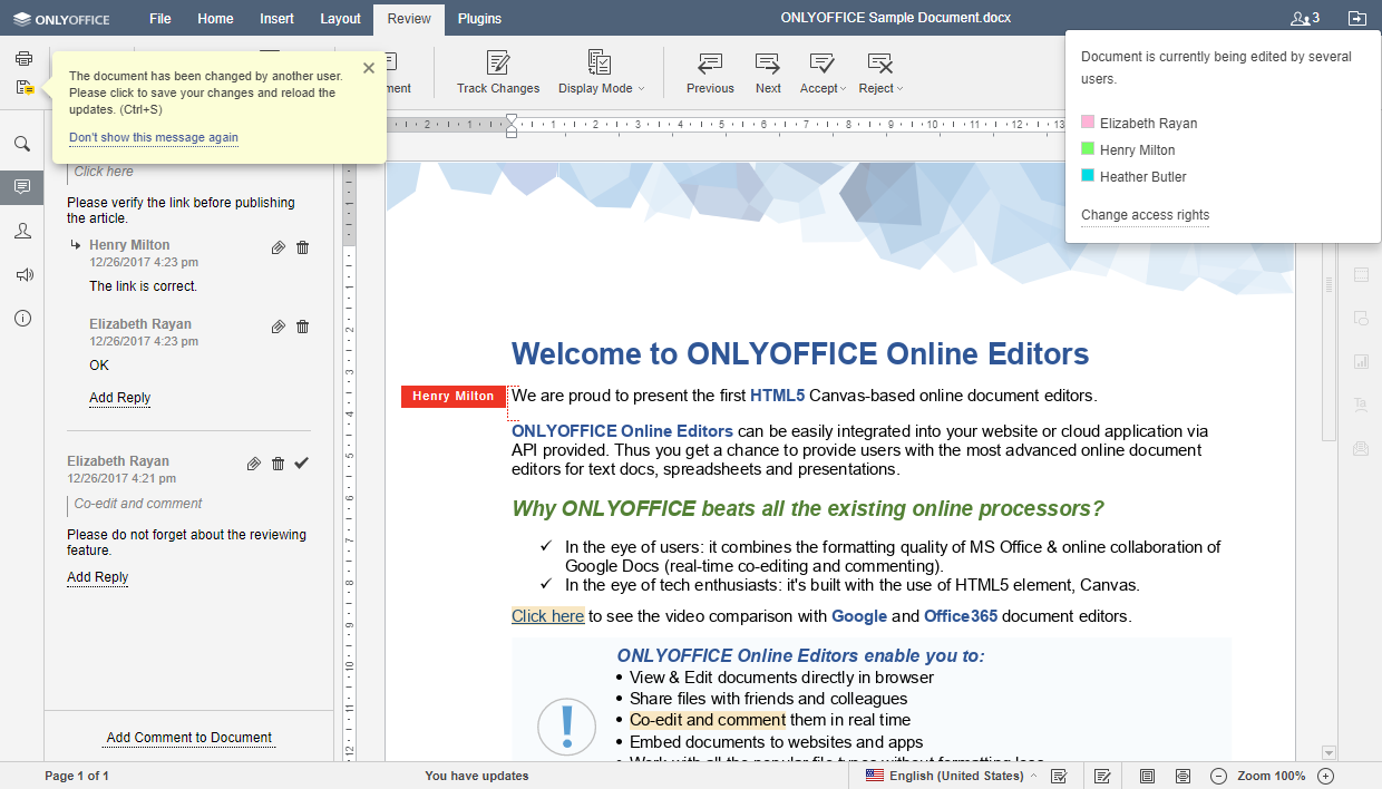 onlyoffice document editor